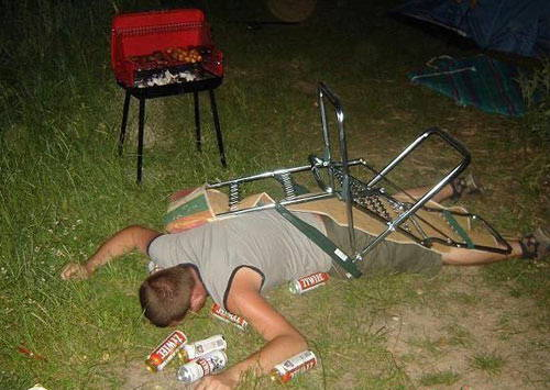 Embarrassing Drunk People Fallen Chair