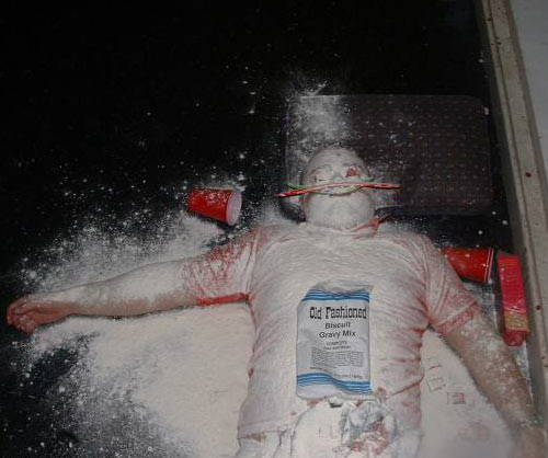 Embarrassing Drunk People Flour