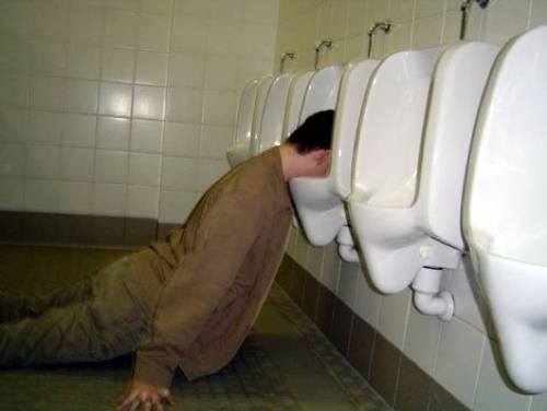 drunk photos urinal The Best Worst Drunks We Know