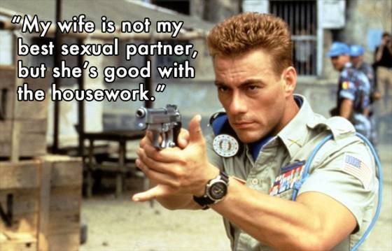 Jean-Claude Van Damme Wife Quote