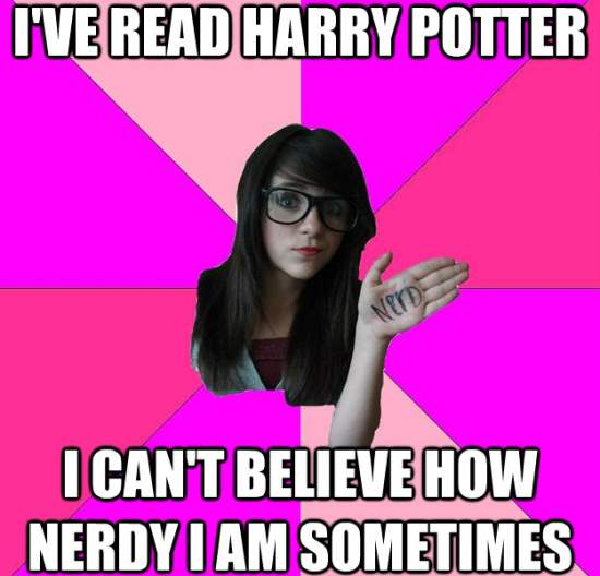 Scene Girl Nerd Meme Harry Potter