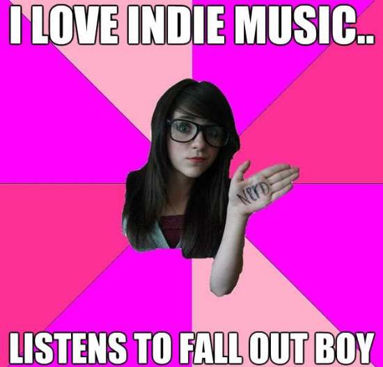 scenester nerd meme indie music The Intolerable Scenester Nerd