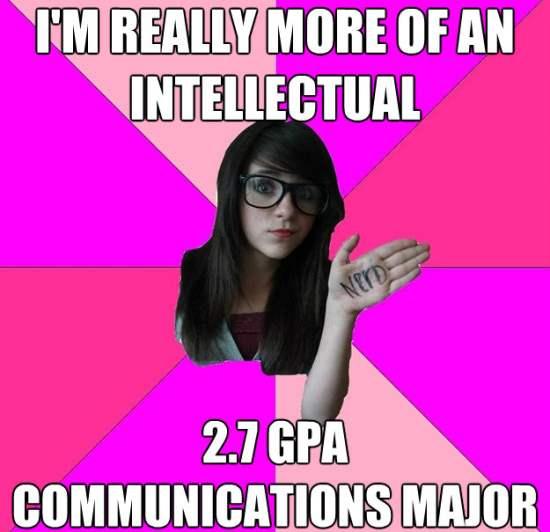 Scenester Nerd Girl Meme Intellectual