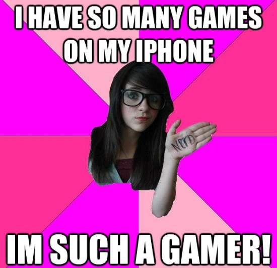 Scenester Nerd Meme iPhone Games