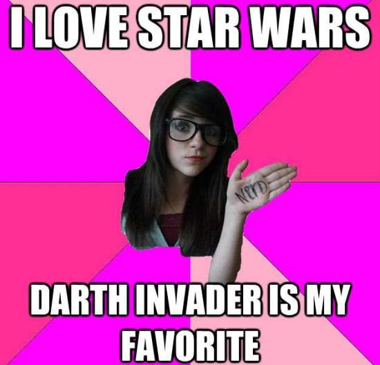 scenester nerd meme star wars The Intolerable Scenester Nerd