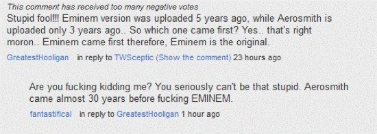 Stupid YouTube Comments Eminem