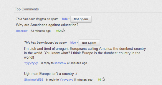 Stupid YouTube Comments Europe