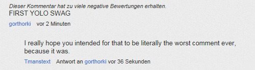 Eleven Of The Dumbest YouTube Comments Ever