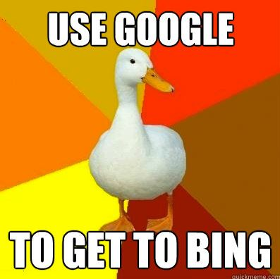 Tech Impaired Duck Meme Google