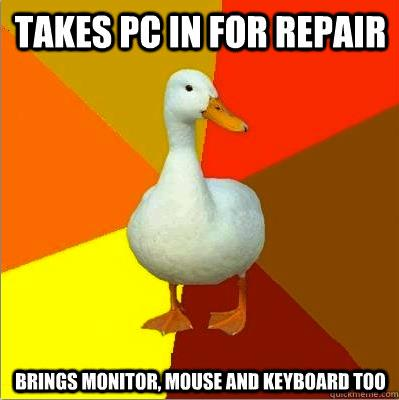 Tech Impaired Duck Meme Repair