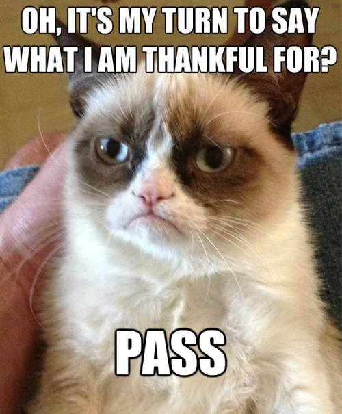Grumpy Cat Thankful