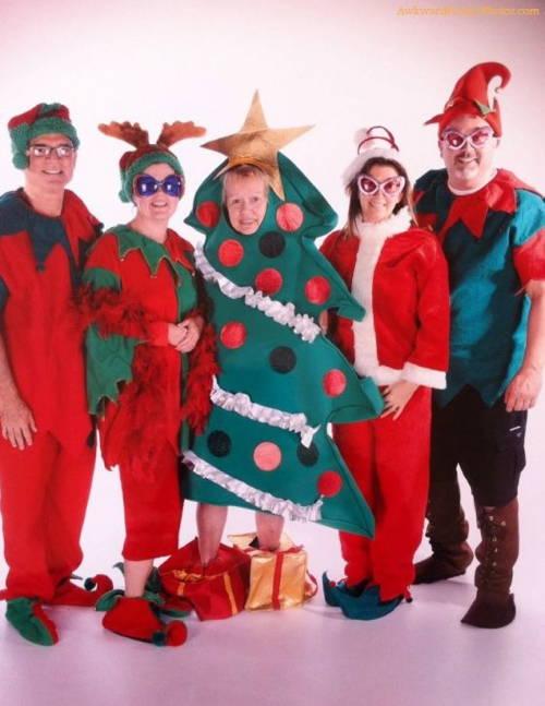 Awkward Christmas Photographs Felt Fabric