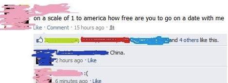 Facebook Online Flirting Fail