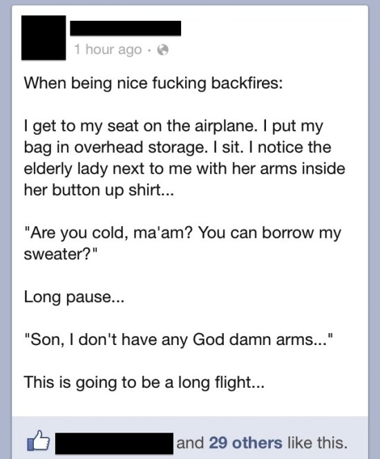 Funniest Facebook Posts Awkward Flight