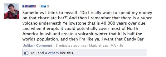Chocolate Bar Logic Facebok Post
