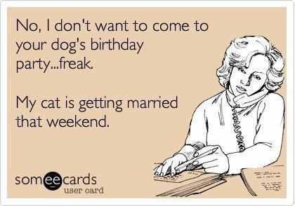 Ecard on Dog Party