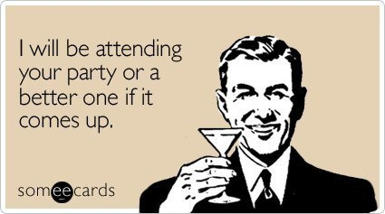 Someecards Party Attendance