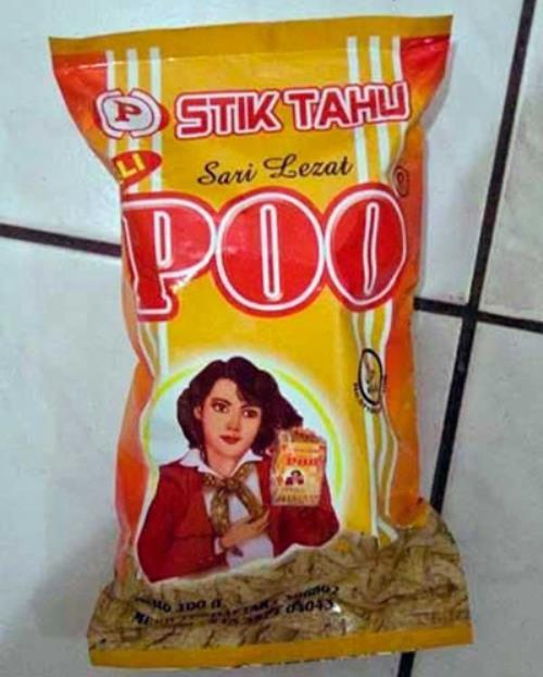 Terribly Named Food Products Poo