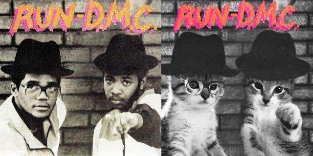 Kitten Covers Run DMC