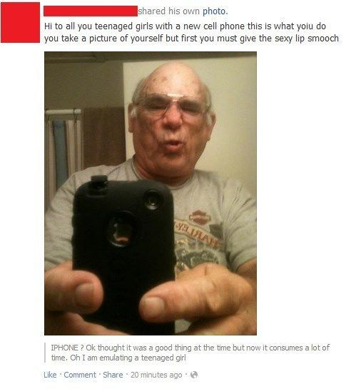 Grandpa Gets His Duckface On