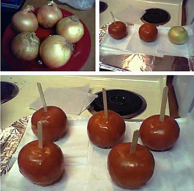Caramel Onions Practical Joke