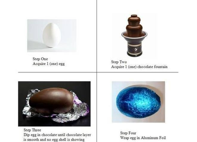 April Fools Chocolate Egg Prank