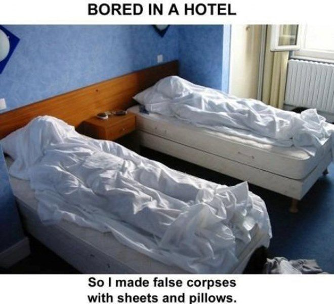 Haunted Hotel Bed Prank