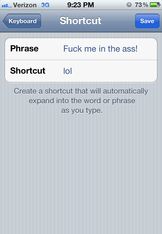 Phone Shortcut Prank