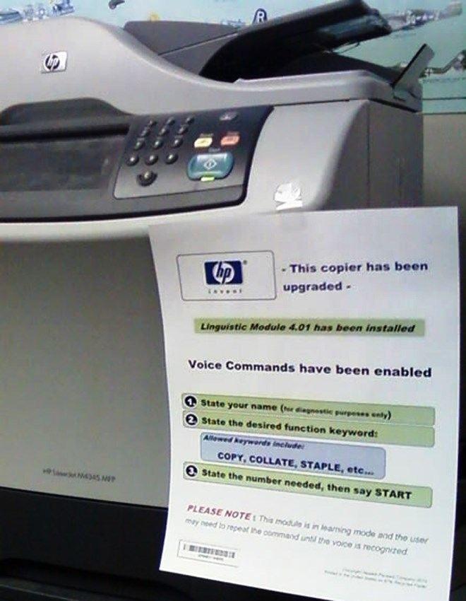 Voice Command Printer Prank