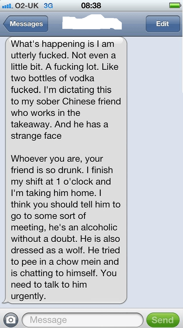 Chinese Drunk Text