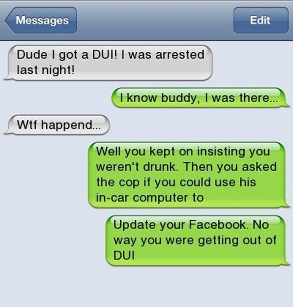 Drunk Texts On Facebook