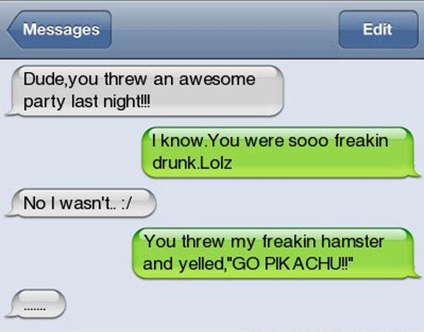 Pikachu Drunk Texts