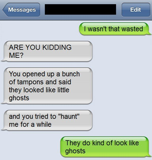 Tampon Ghost Text