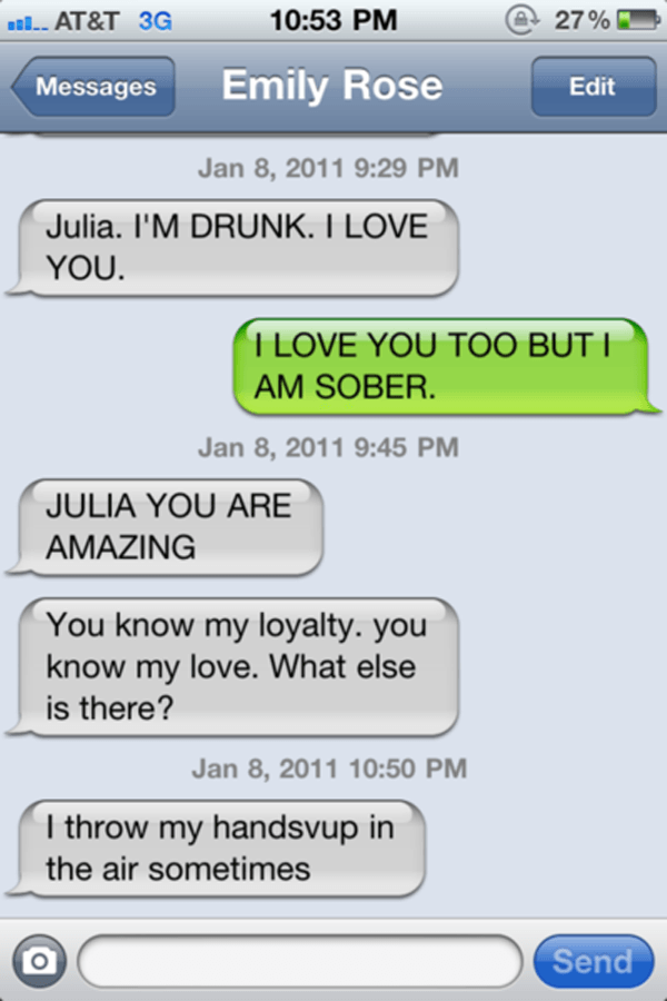 best drunk texts throw hands 25 Of The Best Drunk Texts Ever