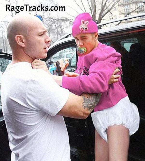 Bieber In A Diaper