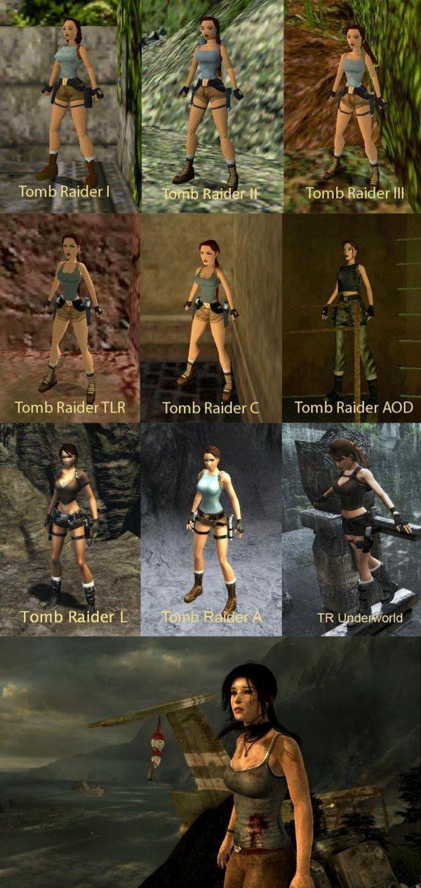 How Tomb Raider Looks Over The Years