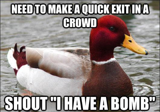 malicious-advice-mallard-quick-exit-in-a-crowd