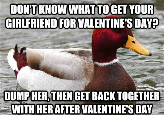 Malicious Advice Mallard Valentines Day
