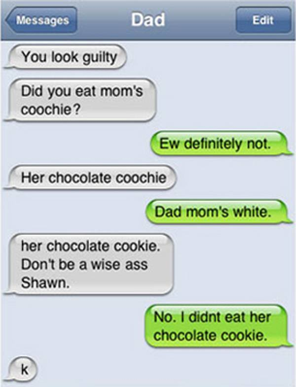 Embarrassing Autocorrect Fails Chocolate