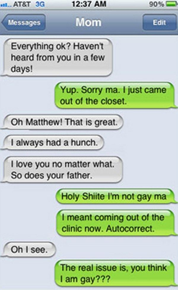 Funny iPhone Autocorrects