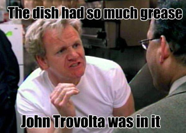Gordon Ramsay Meme John Travolta Greaseac