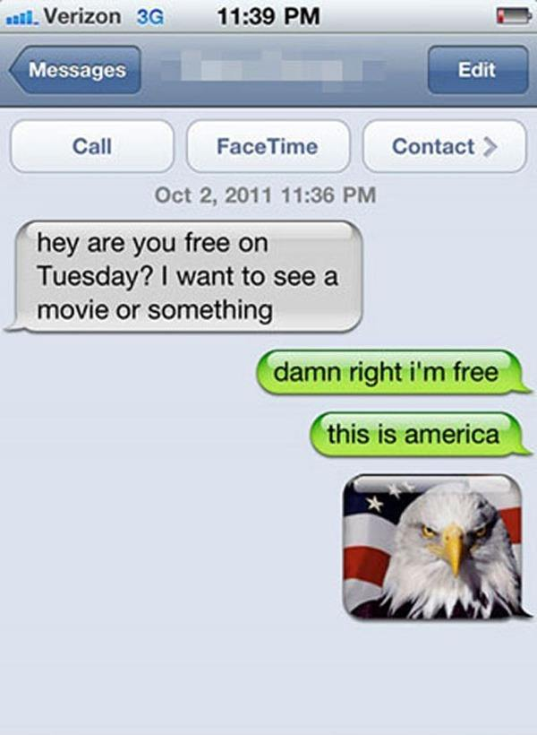 funniest wrong number texts america