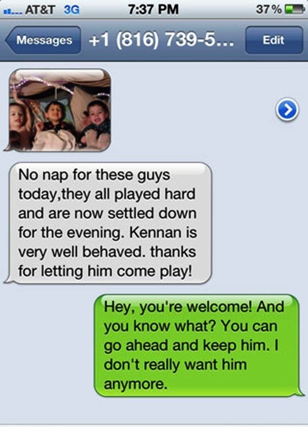funniest wrong number texts nap