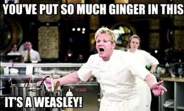 Ginger Gordon Ramsay Memes