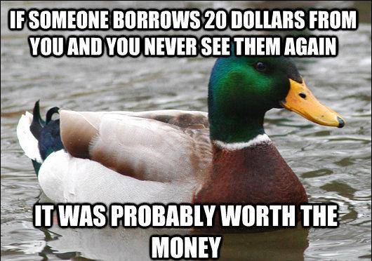 Advice Mallard On Lending Friends Money