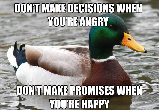 Actual Advice Mallard On Making Angry Decisions