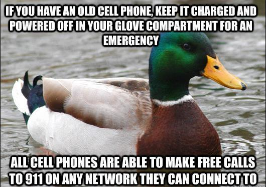 Advice Mallard On Emergency Cell Phone