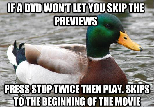 How To Skip DVD Previews