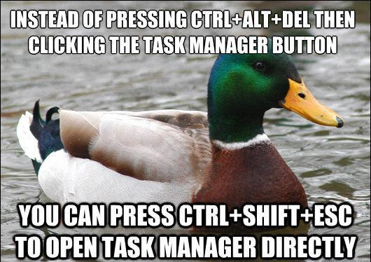 Get To Task Manager Directly