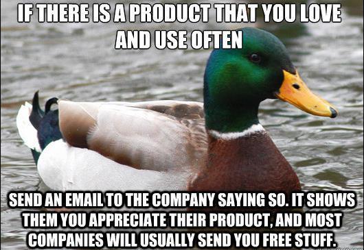 Write Companies For Free Stuff
